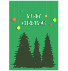 Christmas congratulation on a background three vector image