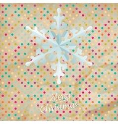 Christmas polka dot card with snowflake eps 10 vector