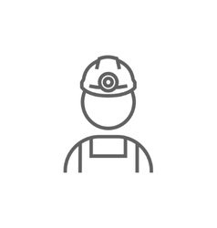 Coal miner line icon vector image