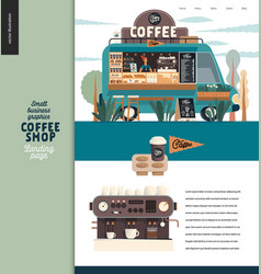 coffee shop - small business graphics - landing vector image