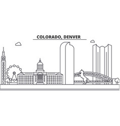 Colorado denver architecture line skyline vector
