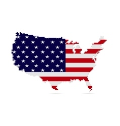 Creative pixel USA map vector image