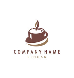 Cup coffee logo vector