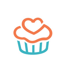 cupcakes icon logo design vector image