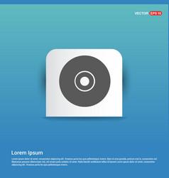 disc icon - blue sticker button vector image