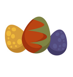 dragon eggs in color shell mysctic creature vector image