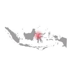 Earthquake and tsunami in sulawesi indonesia vector