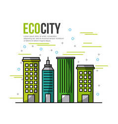 Eco city ecological related icons image vector