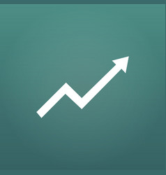 financial arrow graph aroow rise or up isolated vector image