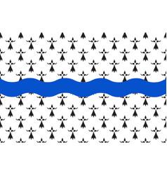 Flag of loire-atlantique in pays de la loire is a vector