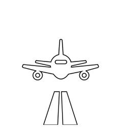 Flat lines plane vector image