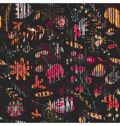 Floral vintage flower pattern vector image vector image