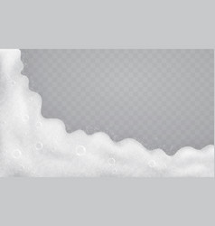 foam with soap bubbles top view flow of soap vector image