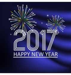 happy new year 2017 on blue navy abstract color vector image