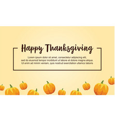 Happy thanksgiving style background with pumpkin vector