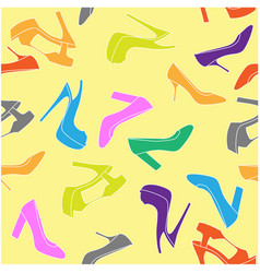 High-heeled shoe seamless background - fashion vector