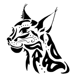 High quality lynx head tattoo vector image