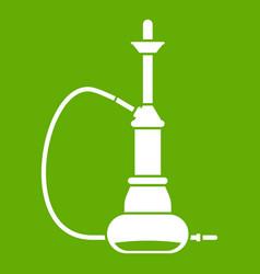 hookah icon green vector image