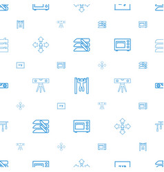 Horizontal icons pattern seamless white background vector