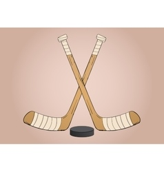 Ice hockey sticks vector