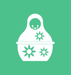 Icon on background russian doll vector