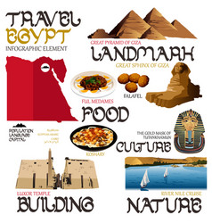 Infographic elements for traveling to egypt vector