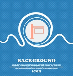 Information Road Sign icon sign Blue and white vector