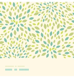 Leaf texture horizontal border seamless pattern vector