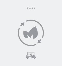 Leaves - renewable concept icon vector