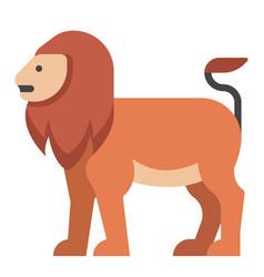 Lion flat vector