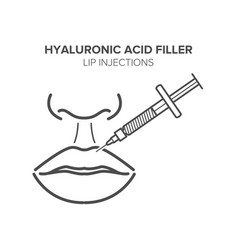 Lip injections hyaluronic acid filler vector