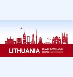 lithuania travel destination vector image