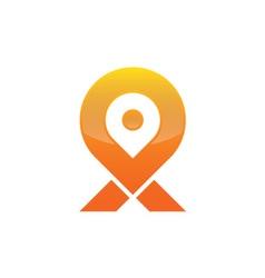 Location map logo vector image