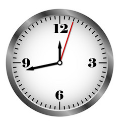 metal clock icon vector image