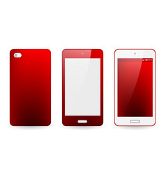mobile phone cover and screen vector image