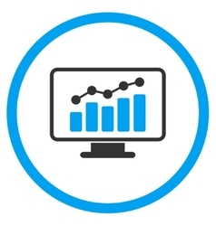 Monitoring Flat Icon vector