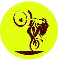 Motocross racer vector