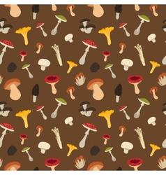 Mushroom seamless pattern vector image