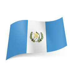 National flag of guatemala white stripe with coat vector