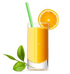 Orange juice vector