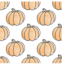 Pattern with pumpkins vector
