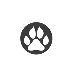 paw logo design vector image