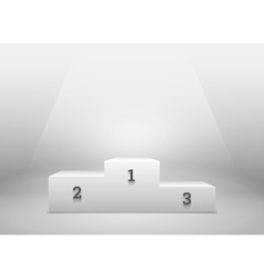 Pedestal for winners podium on white vector