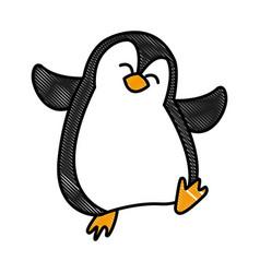 Penguin christmas cartoon vector