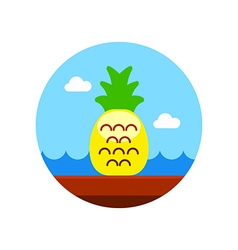 Pineapple icon Summer Vacation vector image