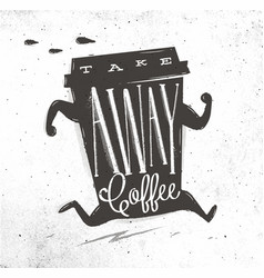 Poster take away coffee vector
