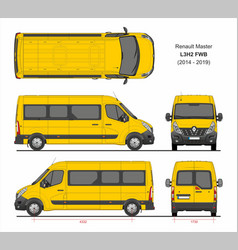 Renault master passenger van l3h2 fwd 2014-2019 vector
