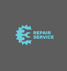 repair service logo vector image