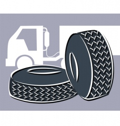 rubber tyres vector image