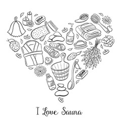 Sauna heart vector